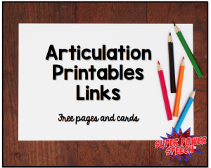 photo regarding Articulation Printable Worksheets referred to as Articulation Printables One-way links Tremendous Electric power Speech