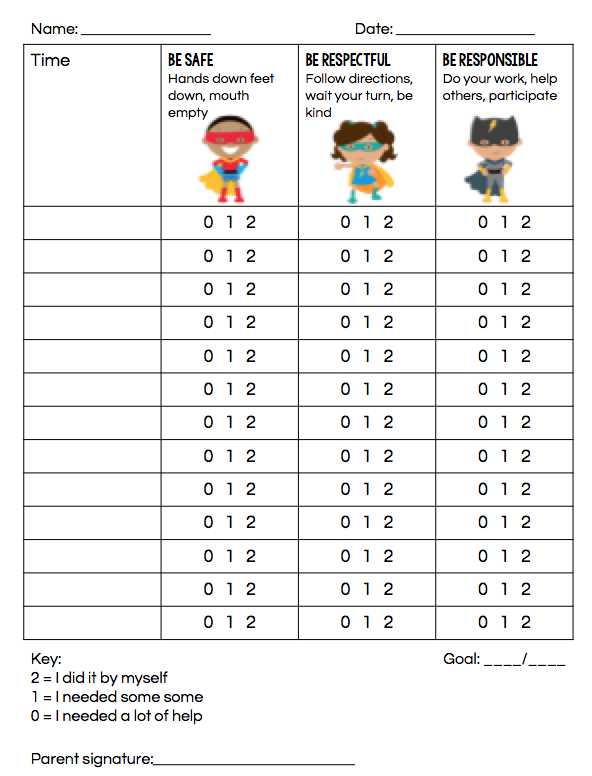 Grab this free super point sheet for children!