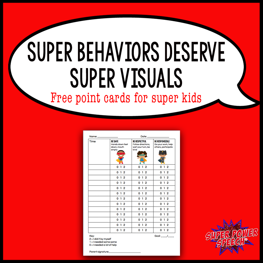 Looking for an easy to use (and editable) point card for your students? Check out this super one!