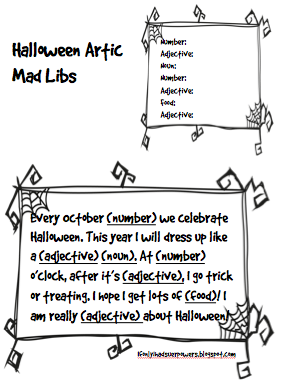 photograph regarding Halloween Mad Libs Printable Free known as Halloween Nuts Libs at Speech Club Tremendous Electrical power Speech