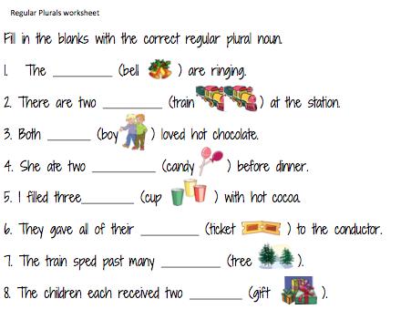 Irregular Plural Nouns Worksheet Regular plurals worksheet and