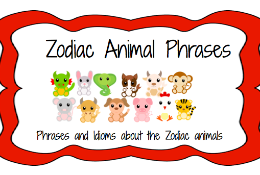 ... Chinese Zodiac Calendar (including FREE Listening Comprehension