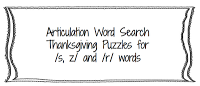 Thanksgiving Word Searches