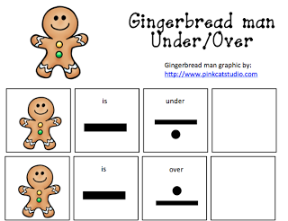 Gingerbread Man Under and Over