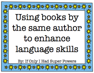 Using books by the same author to enhance language skills
