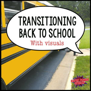 Wondering how to use visuals to help your child (or student) get back into the school routine? Check out this post!