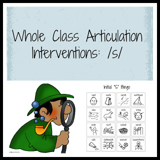 Whole Class Articulation Interventions