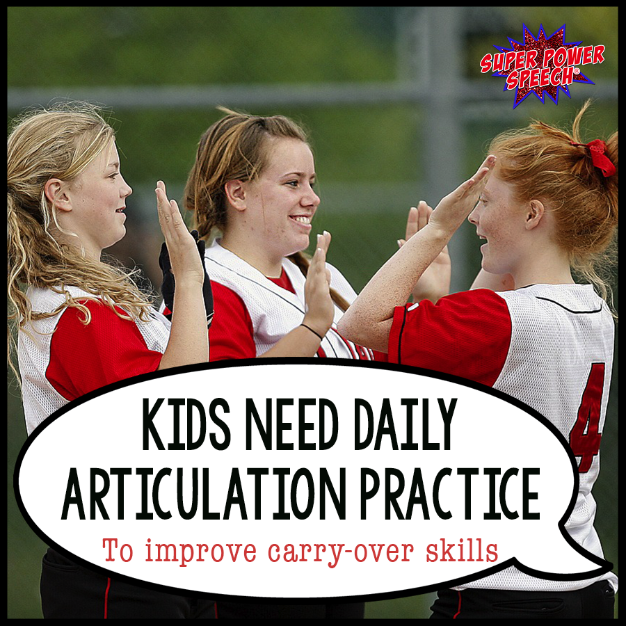 Kids need daily articulation practice! With speech club, they can master their goals both inside and outside the speech room and graduate at last!