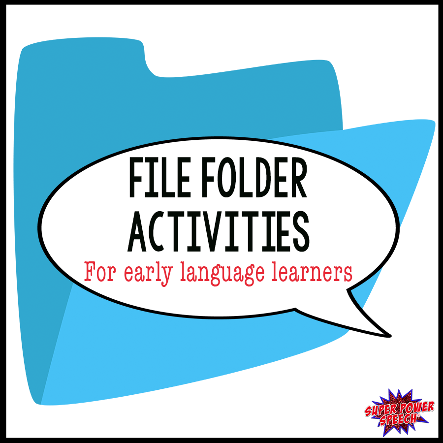 File folder activities are perfect for early language learners!!