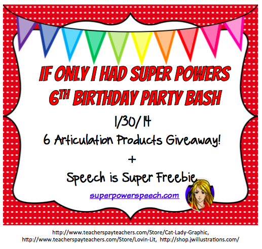 Blog Birthday Day 5: 6 Articulation Products Giveaway
