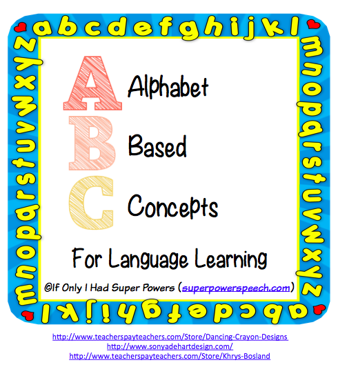 Alphabet Based Concepts for Learning Language