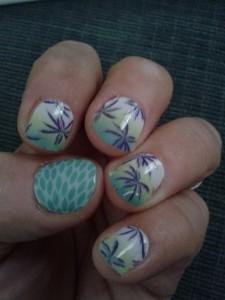 Jennifer tropical nails
