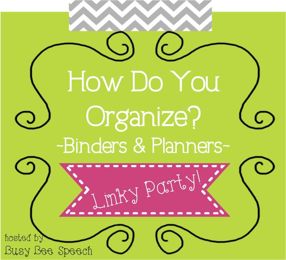Binders and Planner Organization
