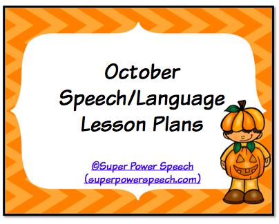 October Speech Lesson Plans 2014