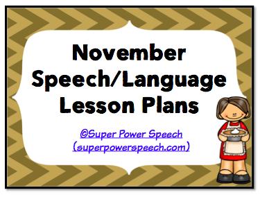 November Speech Lesson Plans 2014