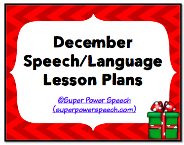 December Speech Lesson Plans 2014