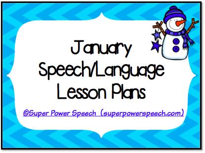 January Speech Lesson Plans 2015