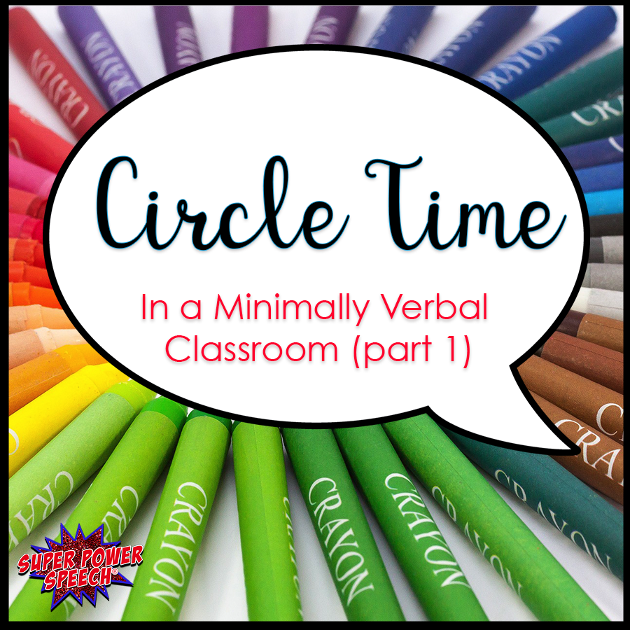 This post is full of ideas for creating a language rich circle time in a minimally verbal clasroom.
