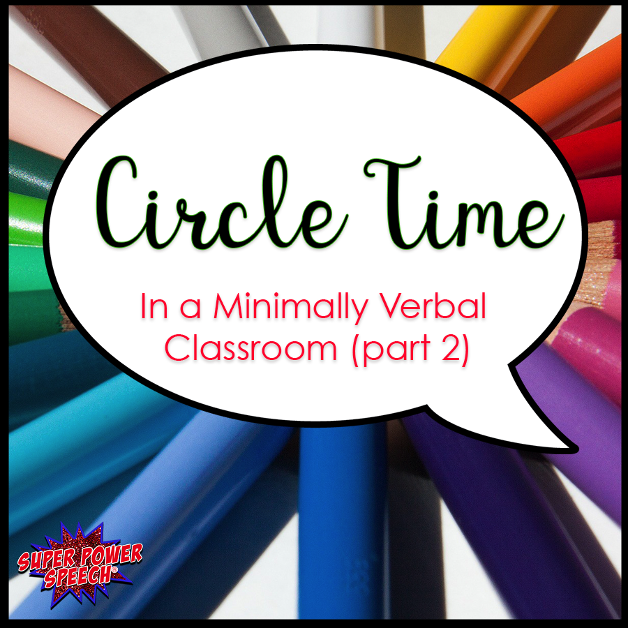 Do your self-contained students speak in 1-3 word utterances? Here are ideas on how to do circle time!