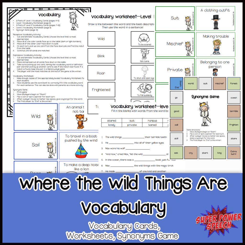 Wild things Vocab