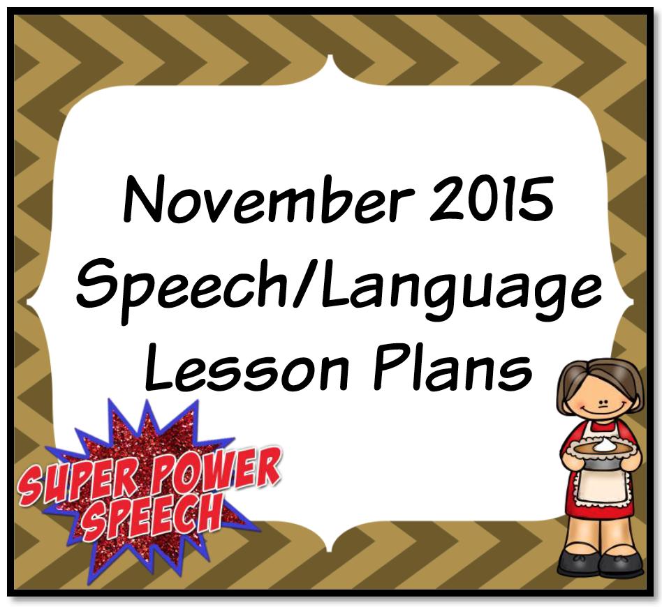 November 2015 Lesson Plans