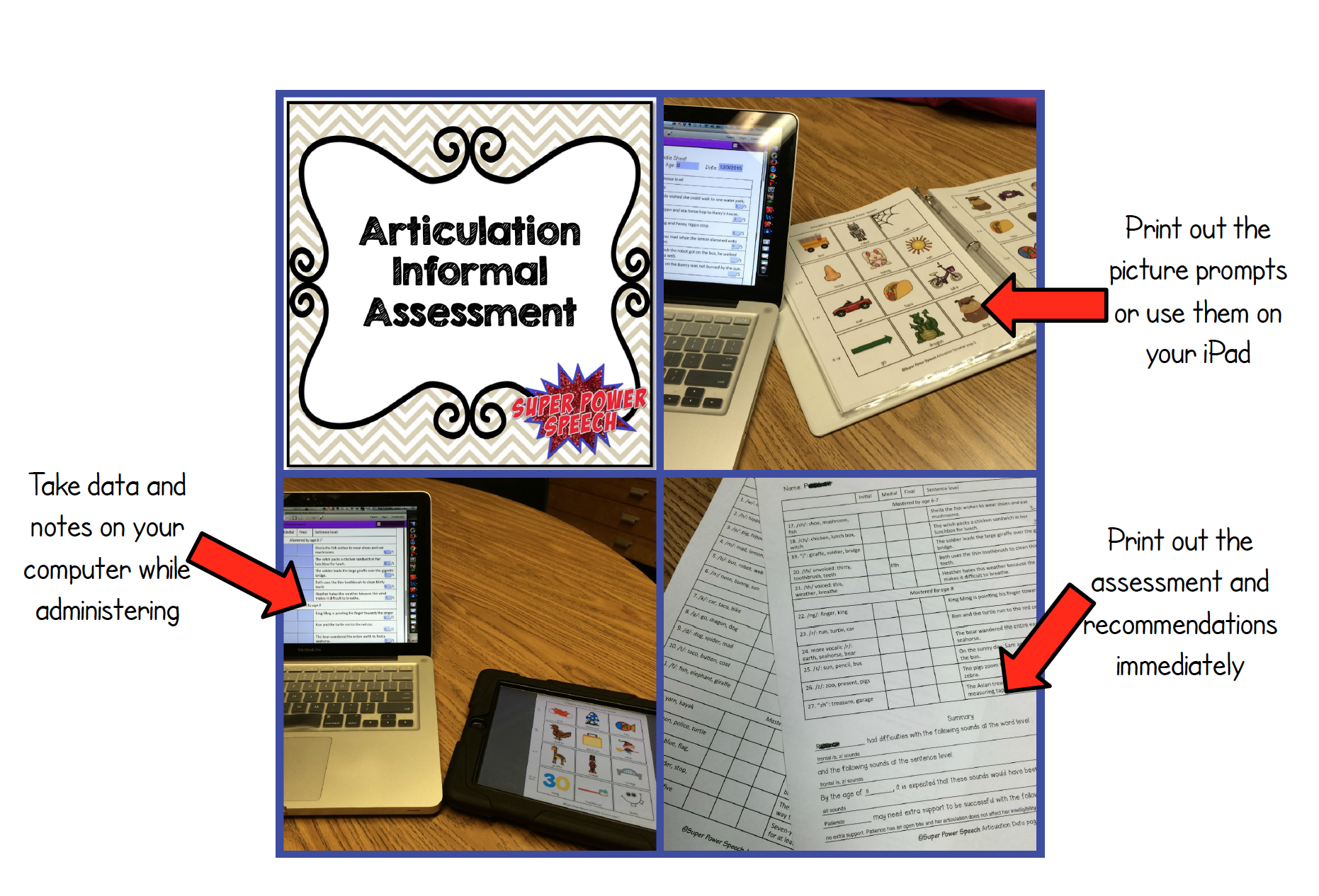 FREE Informal Articulation Assessment and Resource Library
