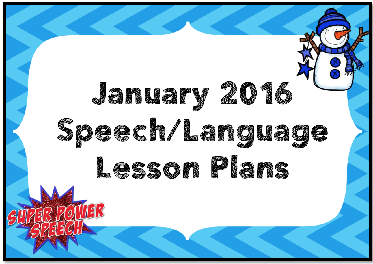 January 2016 Lesson Plans