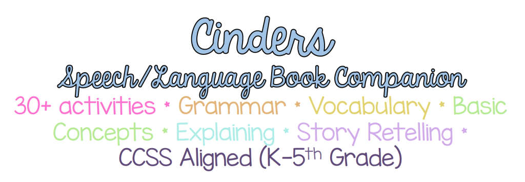 Cinders SLP Book Comanion