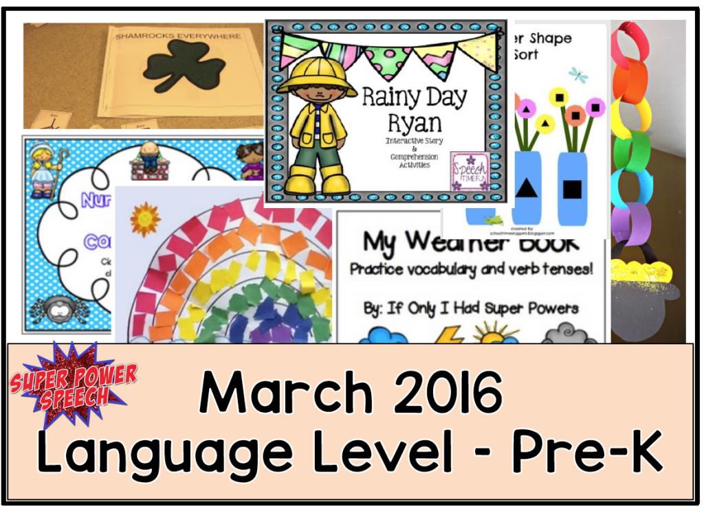 March Speech/Language Lesson Plans