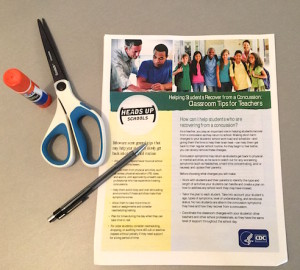 The CDC has many fabulous free flyers for educators and parents about brain injury.