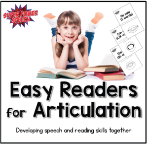 Easy Readers for Articulation are a great way to focus on both reading and speech skills for teachers and SLPs.