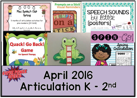 Free April speech lesson plans!
