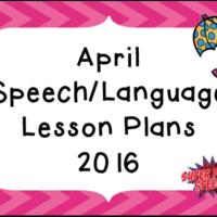 April 2016 Lesson Plans