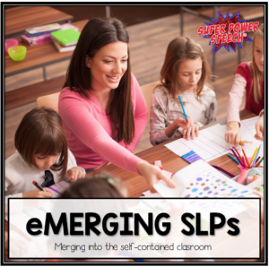 SLPs have an important role to play when they merge into the self-contained classroom. This post describes why and how to do it!