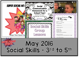 Free speech and language lesson plans for May!