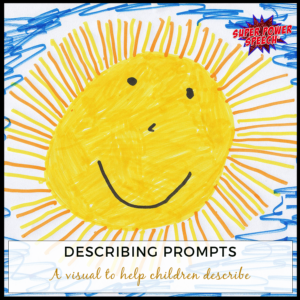 Free describing prompts poster for your classroom
