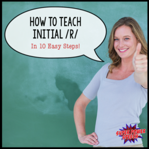 How to teach initial /r/ in 10 easy steps! It's easy with a proven system!
