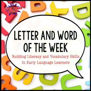 Letter and Word of Week will help students learn new core words... one week at a time!