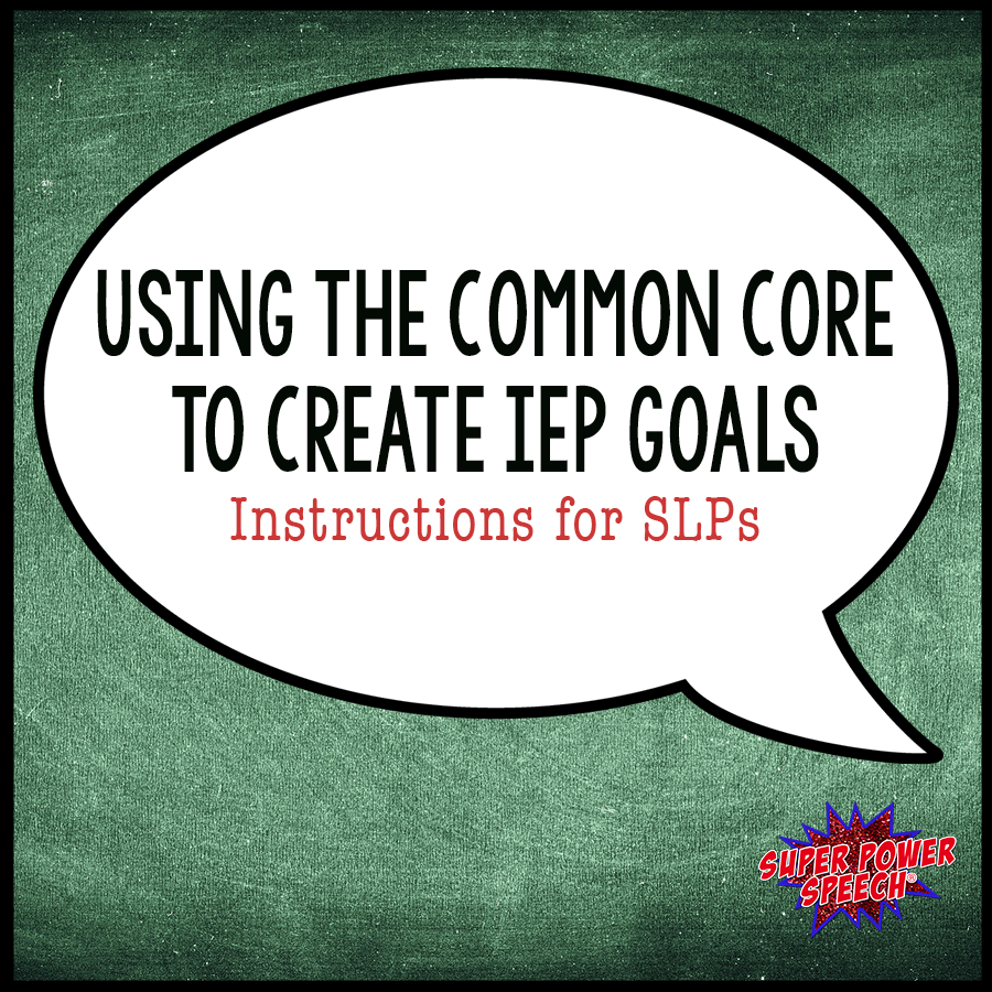 Using the Common Core to create IEP goals is easy with these step by step instructions!