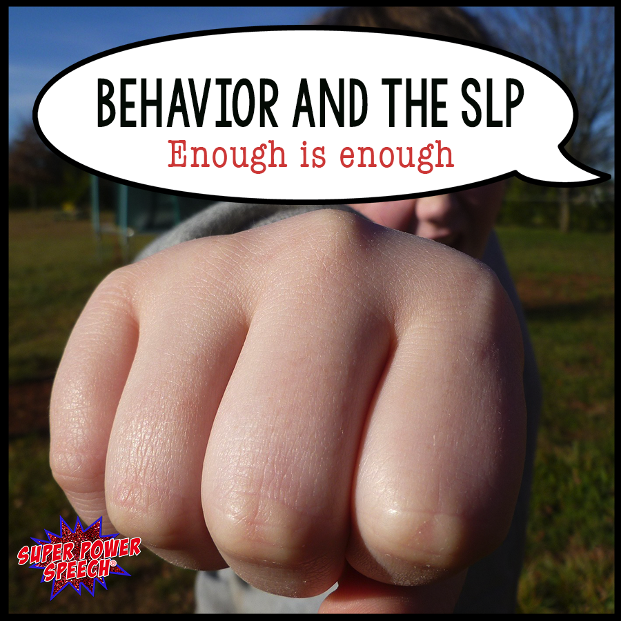 "At what point can the SLP say ""enough is enough"". This student's behavior difficulties are not because of their communication."