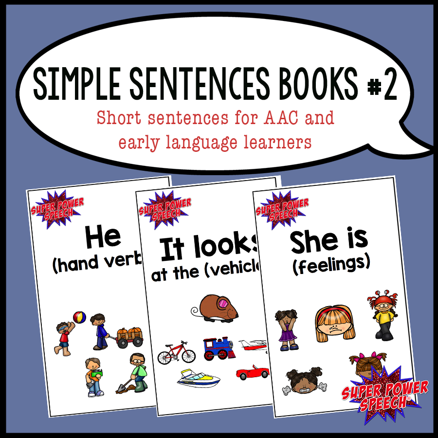 Simple Sentences 2 helps early language learners to master 3rd person pronouns, verbs, and basic categories!