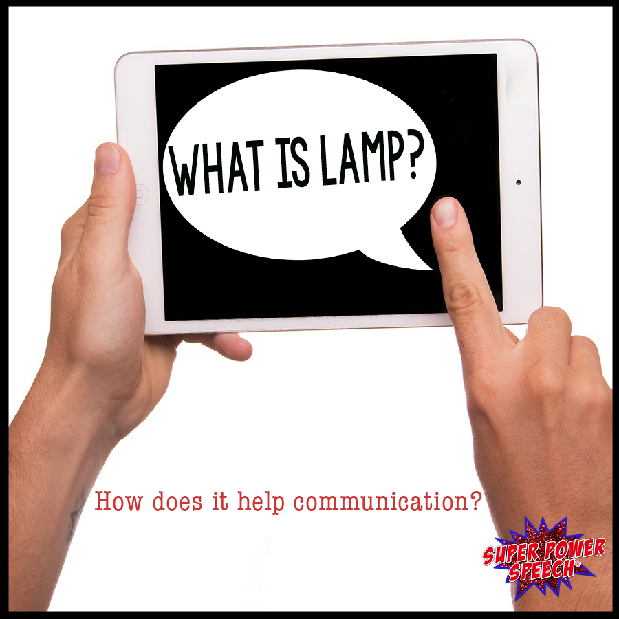 """This post describes the app """"LAMP Words for Life"""" and how it used with augmentative communicators. Learn the pros, cons, and basics of how to teach using LAMP."""