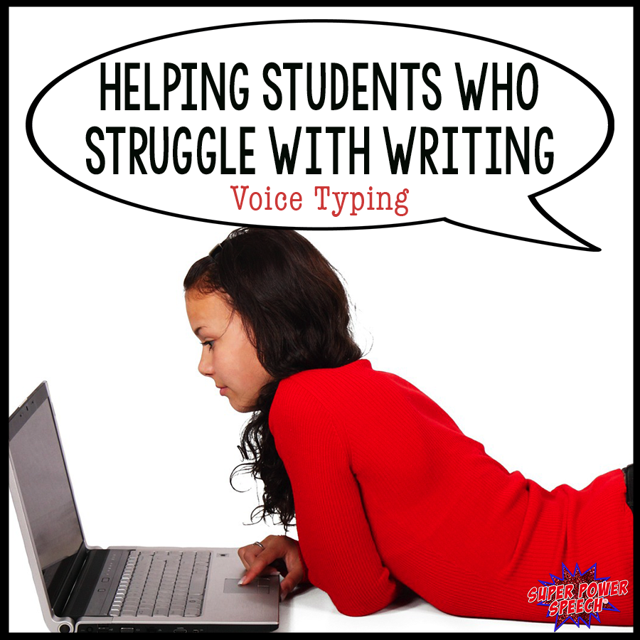 Voice typing may just be the solution that you need for students who struggle with writing!
