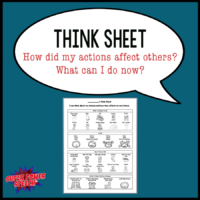 Think Sheet: How did my actions affect others?