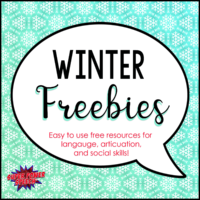 Winter Freebies – Free resources for speech and language