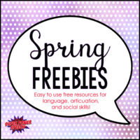 Spring Freebies – Free resources for speech and language