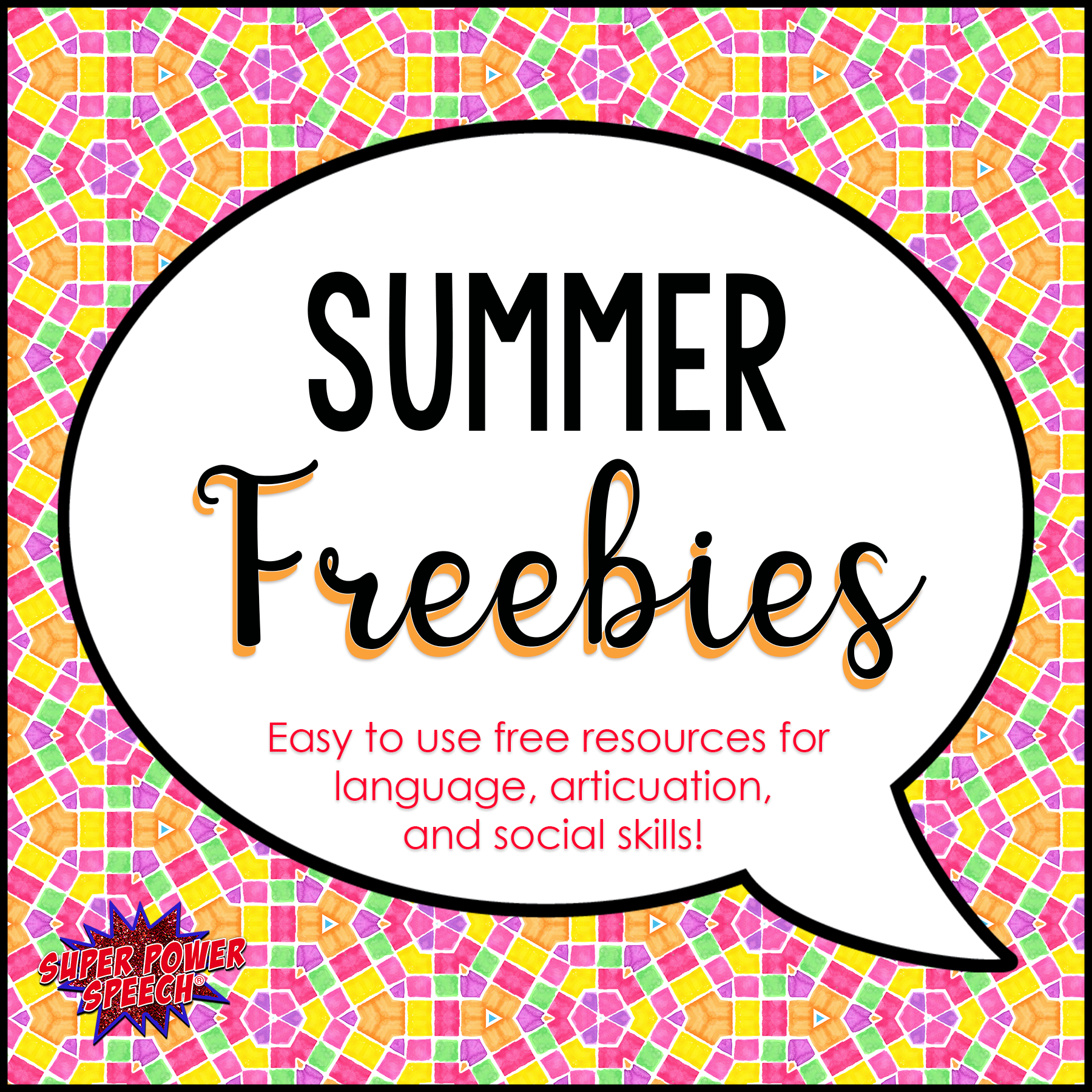 Summer Freebies – Free resources for speech and language