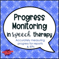 Progress Monitoring in Speech Therapy